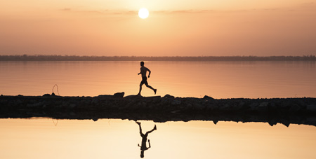 Running meditation is a time to lose yourself in nature.
